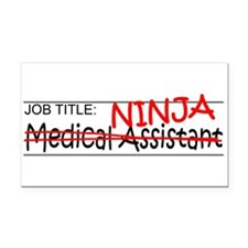 Job Ninja Med Asst Rectangle Car Magnet