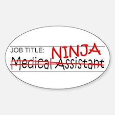 Job Ninja Med Asst Sticker (Oval)