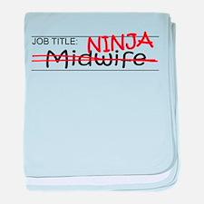 Job Ninja Midwife baby blanket