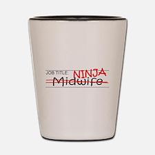 Job Ninja Midwife Shot Glass