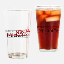 Job Ninja Midwife Drinking Glass