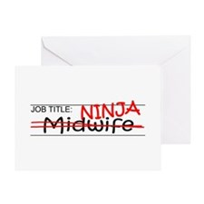 Job Ninja Midwife Greeting Card