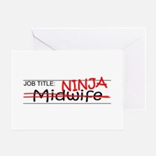 Job Ninja Midwife Greeting Card