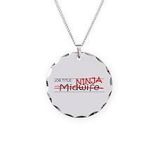 Job Ninja Midwife Necklace Circle Charm