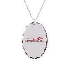 Job Ninja Midwife Necklace Oval Charm