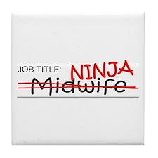 Job Ninja Midwife Tile Coaster