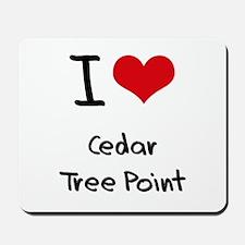 I Love CEDAR TREE POINT Mousepad
