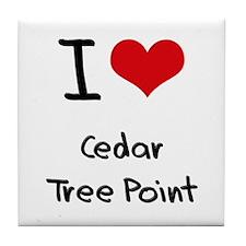 I Love CEDAR TREE POINT Tile Coaster
