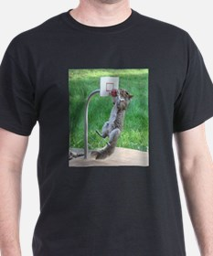 Squirrel Slam Dunking Basketball T-Shirt