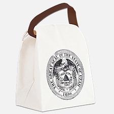 Vintage Utah Seal Canvas Lunch Bag