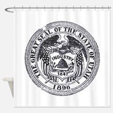 Vintage Utah Seal Shower Curtain