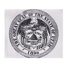Vintage Utah Seal Throw Blanket