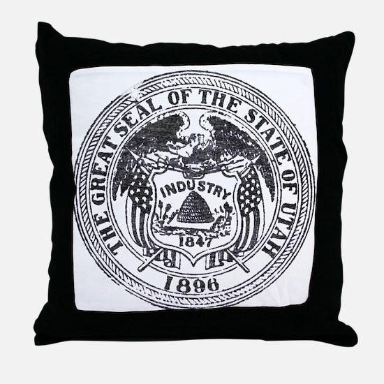 Vintage Utah Seal Throw Pillow