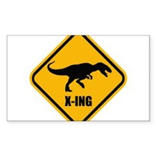 T-rex crossing Decal