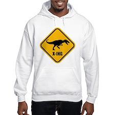 T-rex crossing Hoodie