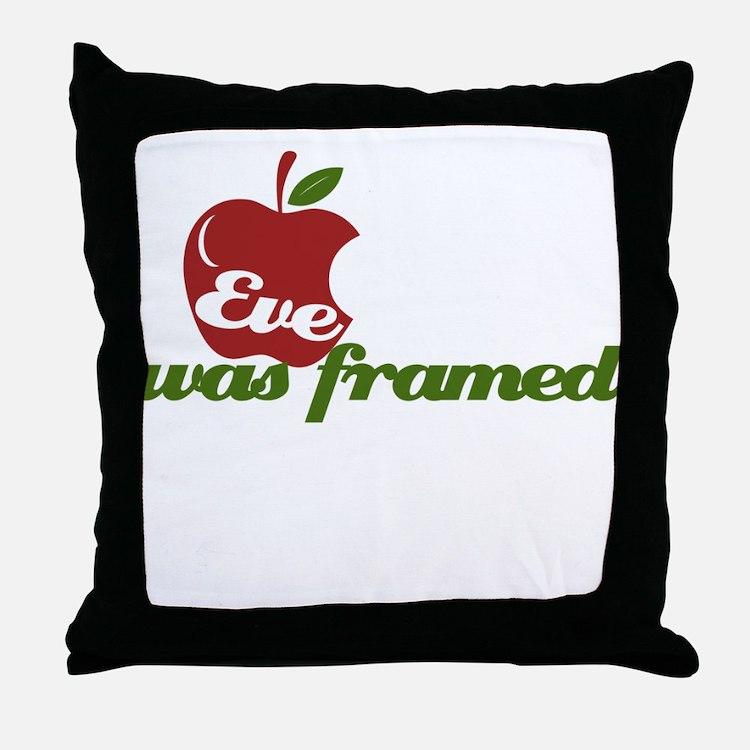 Eve was Framed Throw Pillow