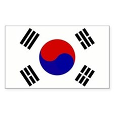 FLAG Rectangle Bumper Stickers