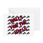 Balls For The Halls Greeting Cards (Pk of 10)