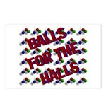 Balls For The Halls Postcards (Package of 8)
