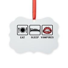 Eat Sleep Vampires Ornament