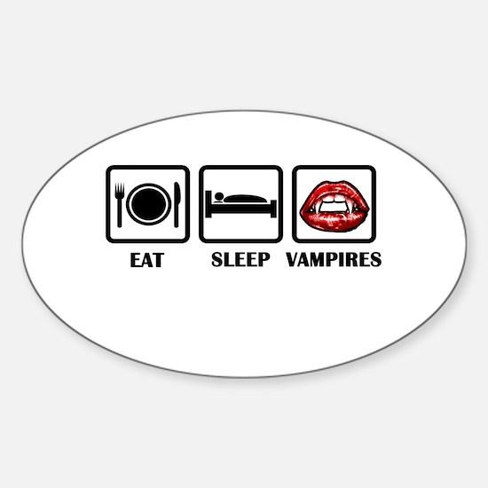 Eat Sleep Vampires Decal