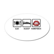 Eat Sleep Vampires Wall Decal