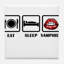 Eat Sleep Vampires Tile Coaster