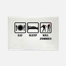 Eat Sleep Kill Zombies Rectangle Magnet