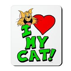 "I Love My ""Orange"" Cat Mousepad"