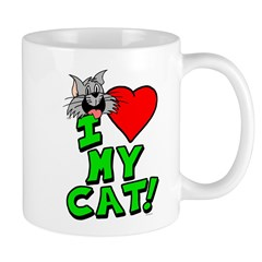 "I Love My ""Gray"" Cat Mug"