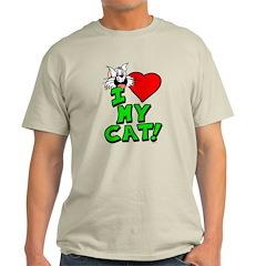 "I Love My ""White"" Cat Men's T-Shirt"