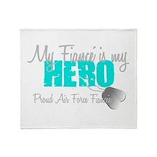My Fiance is my Hero Throw Blanket