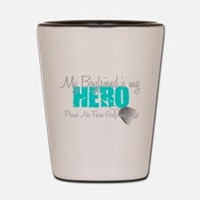 BF is my hero Shot Glass