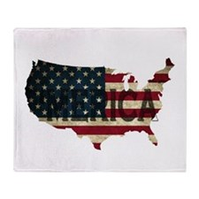 Merica Throw Blanket