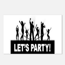 LETS PARTY Postcards (Package of 8)