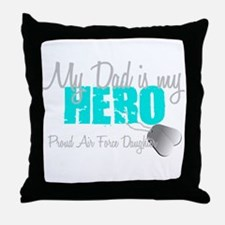 Dad is my Hero Throw Pillow