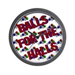 Balls For The Halls Wall Clock