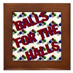 Balls For The Halls Framed Tile