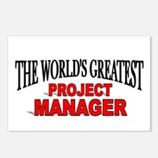 """""""The World's Greatest Project Manager"""" Postcards ("""