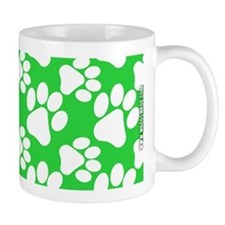 Dog Paws Green Mug