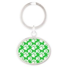 Dog Paws Green Keychains