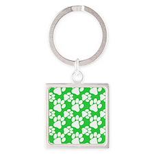 Dog Paws Green Keychains