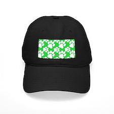 Dog Paws Green Baseball Hat