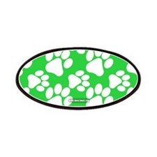 Dog Paws Green Patches