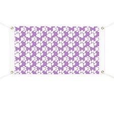Dog Paws Light Purple Banner