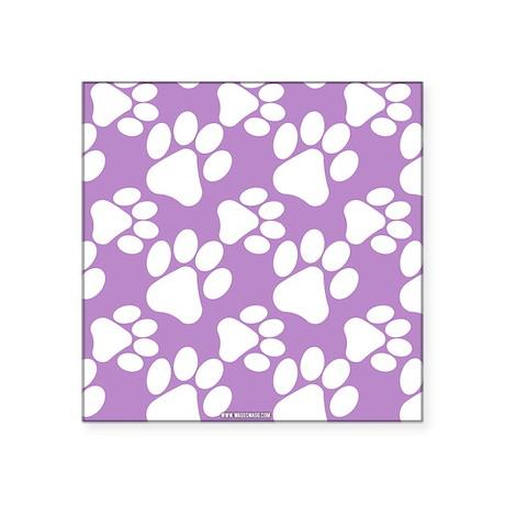 Dog Paws Light Purple Sticker