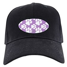Dog Paws Light Purple Baseball Hat