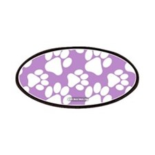 Dog Paws Light Purple Patches