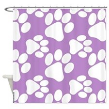 Dog Paws Light Purple-Small Shower Curtain