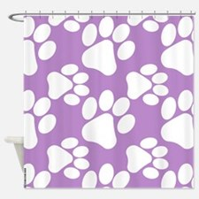 Dog Paws Light Purple-Small Shower Curtain